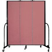 "Screenflex 3 Panel Portable Room Divider, 6'8""H x 5'9""L, Fabric Color: Rose"