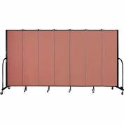 "Screenflex 7 Panel Portable Room Divider, 6'8""H x 13'1""L, Fabric Color: Cranberry"