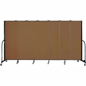 "Screenflex 7 Panel Portable Room Divider, 6'8""H x 13'1""L, Fabric Color: Oatmeal"