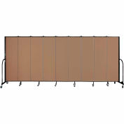 "Screenflex 9 Panel Portable Room Divider, 6'8""H x 16'9""L, Fabric Color: Beech"