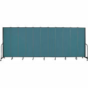 "Screenflex 11 Panel Portable Room Divider, 7'4""H x 20'5""L, Fabric Color: Lake"
