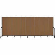 "Screenflex 11 Panel Portable Room Divider, 7'4""H x 20'5""L, Fabric Color: Walnut"