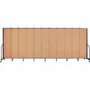 "Screenflex 11 Panel Portable Room Divider, 7'4""H x 20'5""L, Fabric Color: Desert"