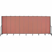 "Screenflex 11 Panel Portable Room Divider, 7'4""H x 20'5""L, Fabric Color: Cranberry"
