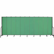"Screenflex 11 Panel Portable Room Divider, 7'4""H x 20'5""L, Fabric Color: Sea Green"