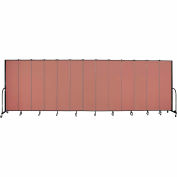 "Screenflex 13 Panel Portable Room Divider, 7'4""H x 24'1""L, Fabric Color: Cranberry"