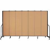 "Screenflex 7 Panel Portable Room Divider, 7'4""H x 13'1""L, Fabric Color: Sand"