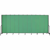 "Screenflex 11 Panel Portable Room Divider, 8'H x 20'5""L, Fabric Color: Sea Green"