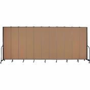 "Screenflex 11 Panel Portable Room Divider, 8'H x 20'5""L, Fabric Color: Beech"