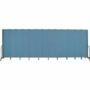 "Screenflex 13 Panel Portable Room Divider, 8'H x 24'1""L, Fabric Color: Summer Blue"