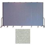 """Screenflex 7 Panel Portable Room Divider, 8'H x 13'1""""L, Vinyl Color: Mint"""