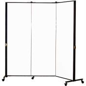 Healthflex Portable Medical Privacy Screen, 3-Panel, White