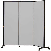 Healthflex Portable Medical Privacy Screen, 3-Panel, Vinyl Granite
