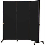 Healthflex Portable Medical Privacy Screen, 3-Panel, Vinyl Coal