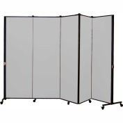Healthflex Portable Medical Privacy Screen, 5-Panel, Stone