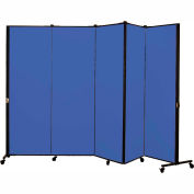 Healthflex Portable Medical Privacy Screen, 5-Panel, Primary Blue