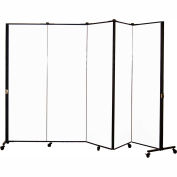 Healthflex Portable Medical Privacy Screen, 5-Panel, White