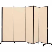 Healthflex Portable Medical Privacy Screen, 5-Panel, Desert