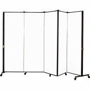 Healthflex Portable Medical Privacy Screen, 5-Panel, Vinyl Ice