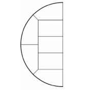 "Steeldeck® 20LEFTSEGME36L 240"" Diameter Half Circle Deck (Left), 36"" Legs, Steel"