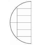 "Steeldeck® 24LFTSEGMEN42L 288"" Diameter Half Circle Deck (Left), 42"" Legs, Steel"