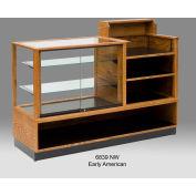 "5' Combo New World Full Vision Case 6839NW, Medium Oak, 60""L X 22""W"