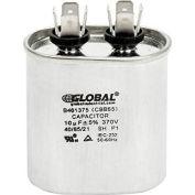 Global Industrial™ B461375, 10 +/- 5% MFD, 370V, Run Capacitor, Oval