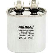 Global Industrial™ B461388, 5 +/- 5% MFD, 370V, Run Capacitor, Oval