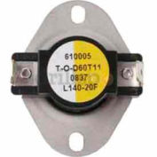 General Purpose Thermostat Opens 140°F, Closes 120°F - Min Qty 2