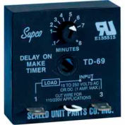 Supco Td69 Time Delay - 19 To 250 Vac/Vdc - Pkg Qty 12