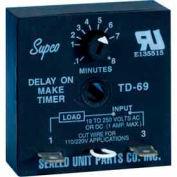 Supco Td69 Time Delay - 19 To 250 Vac/Vdc - Pkg Qty 12