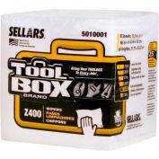 Sellars® Toolbox® Z400 White 1/4 Fold, 60Sheets/Bundle, 12 Bundles/Case 5010001
