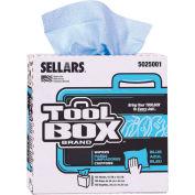 Sellars® Toolbox® Z400 Blue Interfold, 100 Sheets/Box, 8 Boxes/Case 5025001