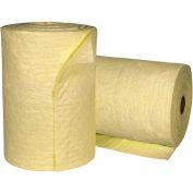 "Sellars® Hazmat Medium Weight Sorbent Split Rolls, 21 Gallon Capacity, 19"" x 144', 2 Rolls/Bag"