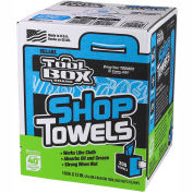 Sellars® Toolbox® Z400 Blue Shop Towels, 200 Sheets/Box, 6 Boxes/Case 55202