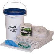 EverSoak® Oil Only 6.5 Gallon Pail Spill Kit, 6.5 Gallon Capacity, 1 Spill Kit/Case