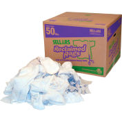 Sellars® Reclaimed Rags - White Fleece, 50 Lbs. 99204