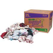 Sellars® Reclaimed Rags - Flannel, 25 Lbs. 99207