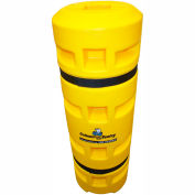 """Column Sentry® Column Protector, 4""""x 4"""" Square Opening, 14"""" O.D. x 42""""H, Yellow"""