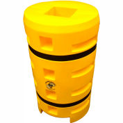 "Column Sentry® Column Protector, 10""x 10"" Square Opening, 24"" O.D. x 42""H, Yellow"