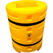 """Column Sentry® Column Protector, 14""""x 14"""" Square Opening, 33"""" O.D. x 42""""H, Yellow"""