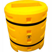 "Column Sentry® Column Protector, 12""x 24"" Rectangle Opening, 38"" O.D. x 42""H, Yellow"
