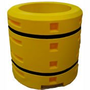 "Column Sentry® Column Protector, 30"" Diameter Round Opening, 44"" O.D. x 42""H, Yellow"