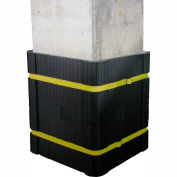 "Park Sentry® Column Protector Kit - For 24"" x 24"" Square Columns, Black"