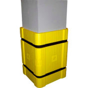 """Park Sentry® Column Protector Kit - For 24"""" x 24"""" Square Columns, Yellow"""