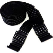 "Park Sentry® Black Reflective Strap with Strap Lock Buckle, 100""L x 2""W, Set of 2"