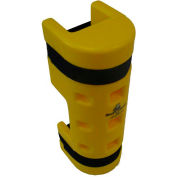 "Rack Sentry® Rack Protector with Cutout, 4"" x 3"" Opening, 18""H, Yellow"