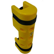 "Rack Sentry® Rack Protector with Cutout, 3"" x 3"" Opening, 18""H, Yellow"