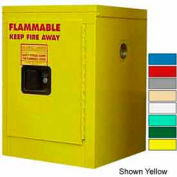 Securall® 4-Gallon, Manual Close, Flammable Cabinet Md Green