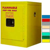 Securall® 4-Gallon, Manual Close, Flammable Cabinet Yellow